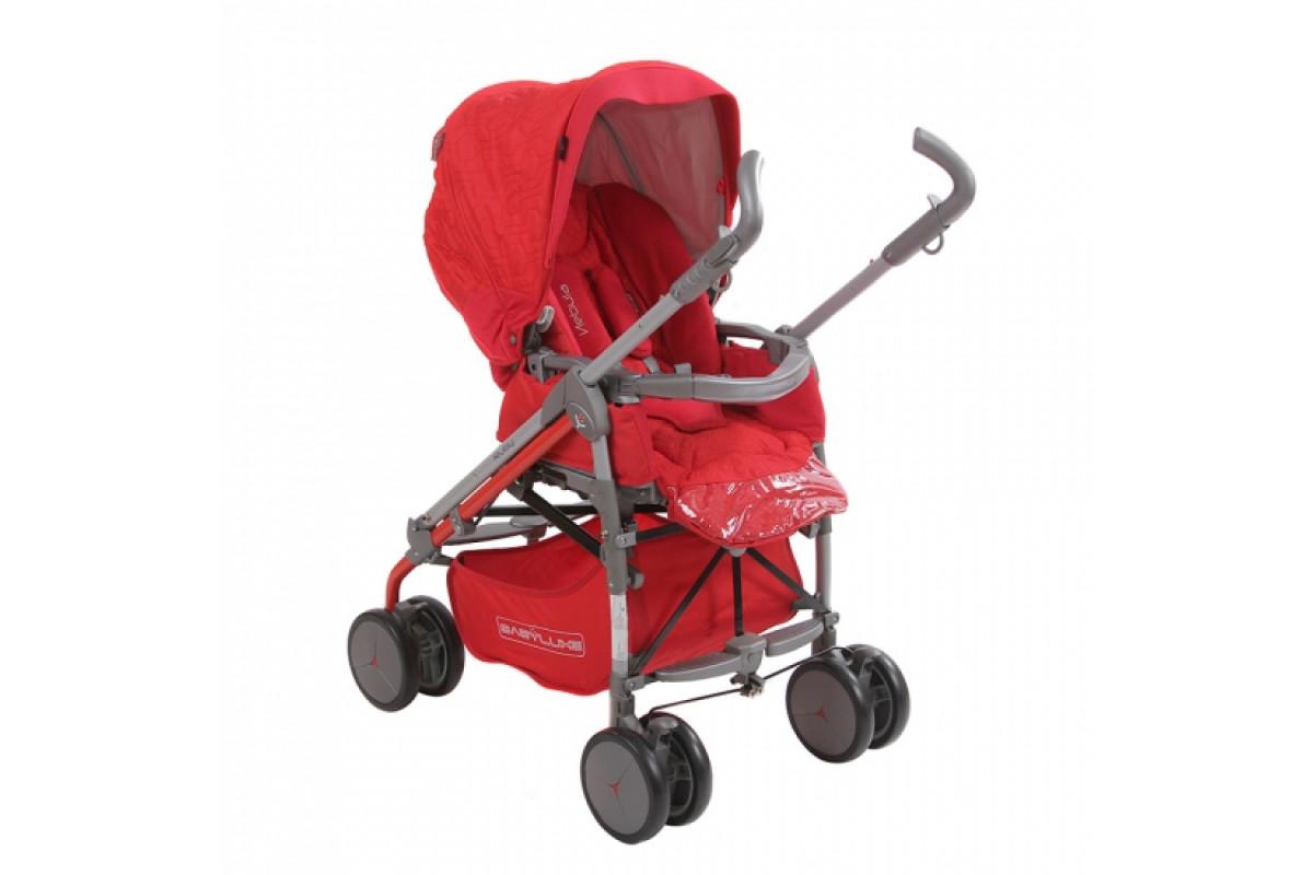 BabyLux Carita 205S (8 колес) - прогулочная коляска RUBY крас.
