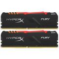 Память оперативная DDR4 16Gb Kingston HyperX FURY RGB CL16 DIMM PC21300, 2666Mhz, (Kit of 2), HX426C16FB3AK2/16