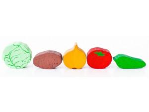 Игрушечная еда. PAREMO Овощи - 5 предметов