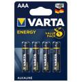 Батарейка щелочная VARTA LR03 (AAA) Energy 1.5В блистер 4шт (4103 213 414)