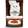 Консервы для кошек Gourmet A la Carte, кусочки в подливе говядина с овощами, 85г*24 шт.