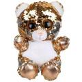 Мягкая игрушка Fluffy Family Мишка из пайеток 15 см 681681