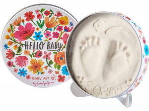 Baby Art Коробочка для отпечатка Мэджик бокс круглая; дизайн Цветы