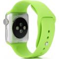 Ремешок силиконовый для Apple Watch 40мм, зеленый