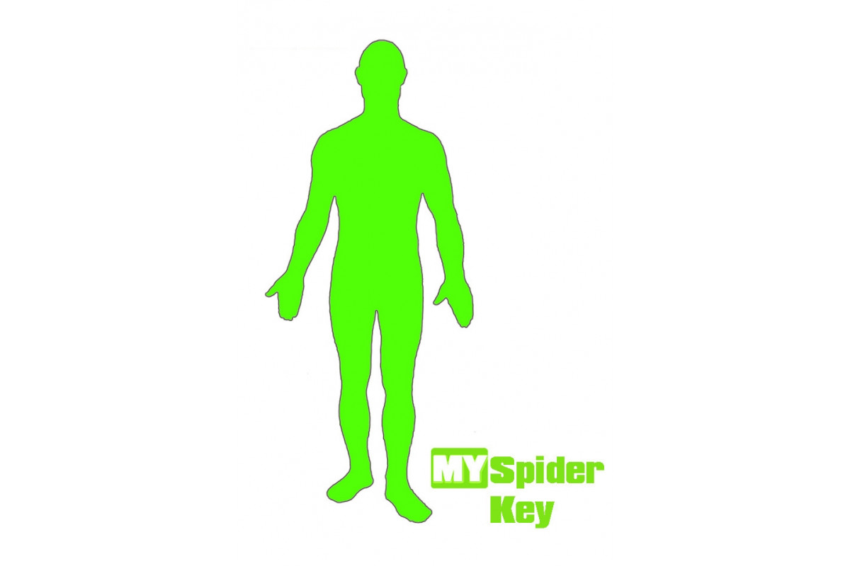 Костюм хромакей Movie Yeah My Spider Key Green (S)