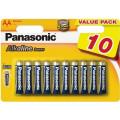 Батарейки Panasonic LR6REB/10BW AA щелочные Alkaline power multi pack в блистере 10шт