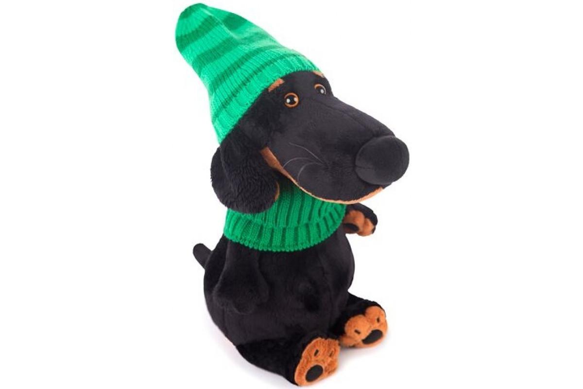 Мягкая игрушка Budibasa Ваксон в зеленой шапке и шарфе 25 см