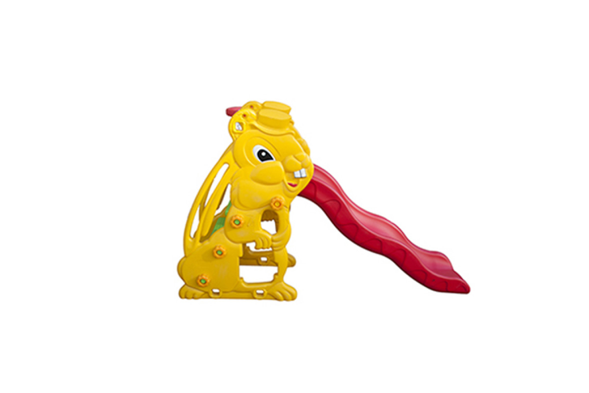 QiaoQiao QQ12065-5 Заяц - детская горка с баскетбольным кольцом