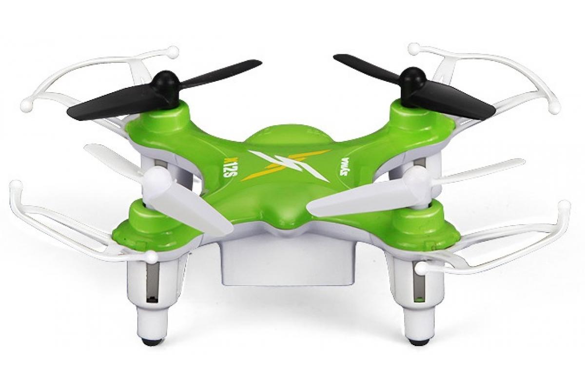 Квадрокоптер Syma X12s, зеленый