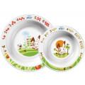 Набор из глубокой большой и глубокой малой тарелок AVENT Philips SCF708/00