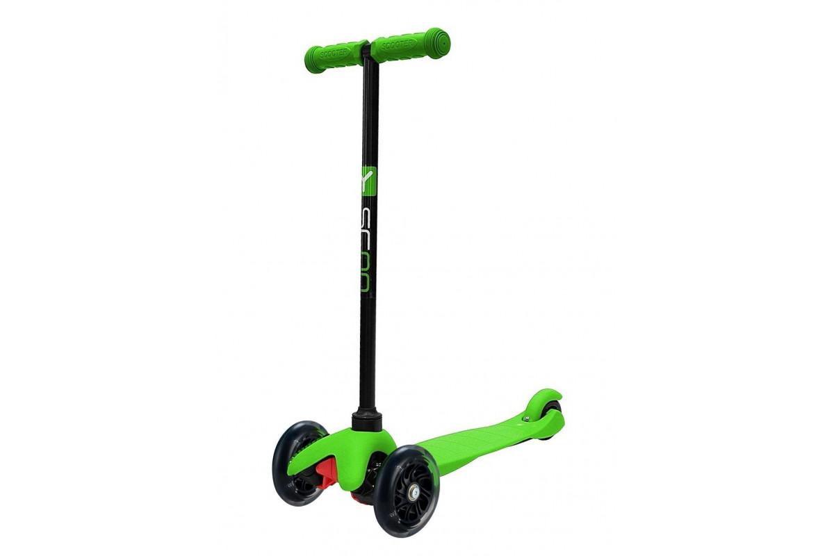 Y-Scoo RT Mini Shine A5 - детский самокат. зеленый со светящими колесами