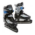 Action коньки хоккейные, (6 шт/кор), цв. черный(снежинки), р. M (34-37)