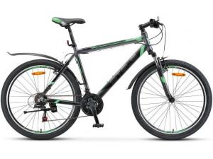 "Велосипед Stels Navigator 600 V V020 Антрацитовый/Зеленый (LU085064) 16"""