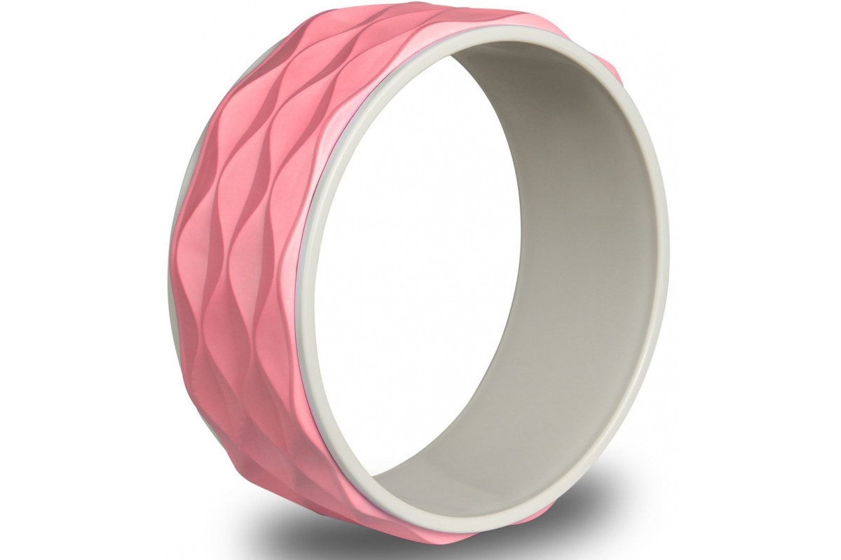 Колесо для йоги рифленое (34 см) 17103 IRBL Розовый