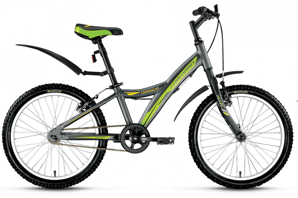 "Велосипед 20"" Forward Commanche 1.0 17-18 г 10.5' Серый матовый"