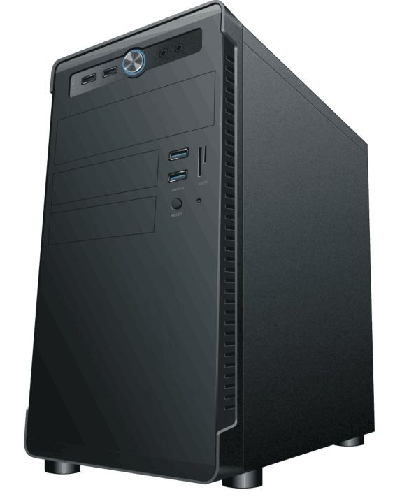 Домашний компьютер Prolike H001 (Intel core i3 9100F/8Gb/1256Gb HDD+SSD/H310M-R R2.0/nVidia GeForce GT 1030 2Gb/450W/без ОС)