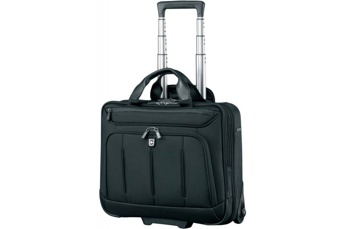 Сумка на колесах Victorinox VX One Briefcase 15,6', черный, 42x21x40 см, 35 л, 600612