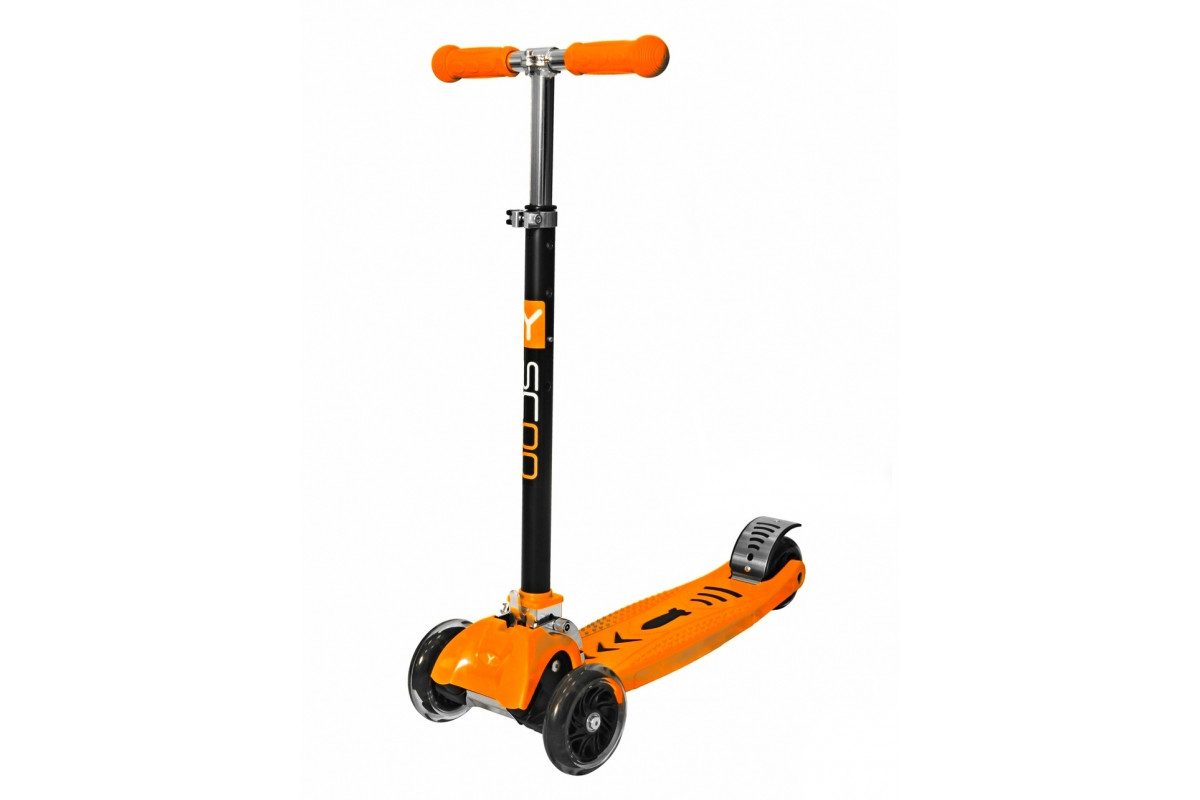 Y-Scoo Maxi City RT Shine Gagarin - детский самокат-трансформер оранжевый