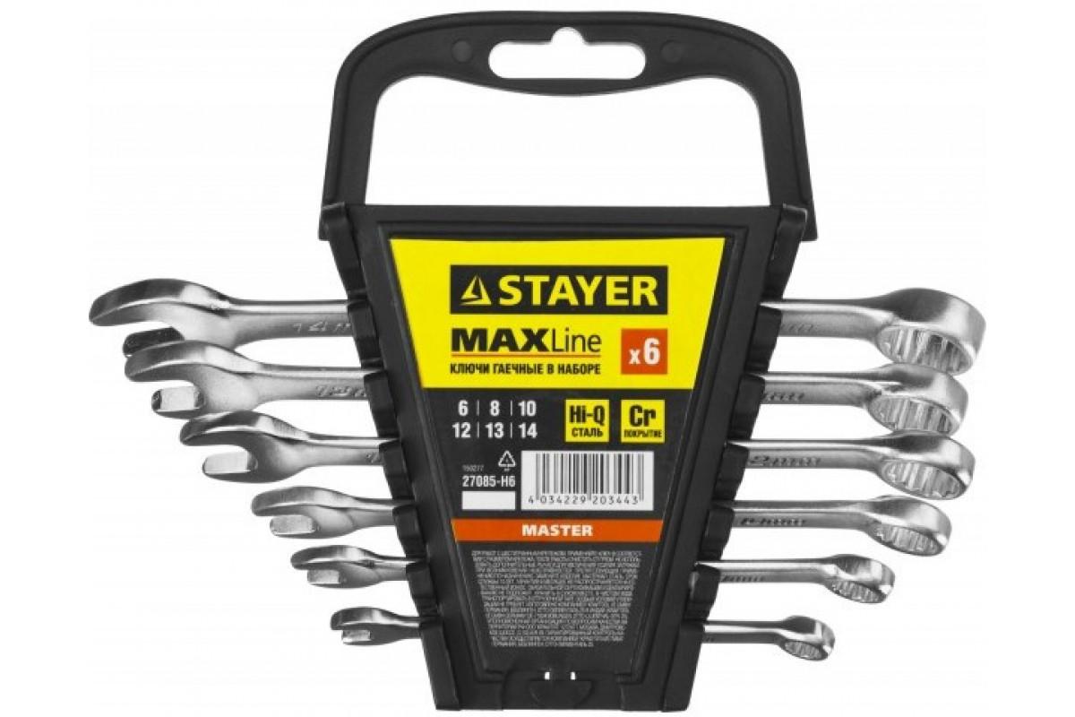 Набор комбинированных гаечных ключей STAYER 6 шт, 6 - 14 мм