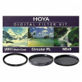 Набор из 4 фильтров Hoya (UV (C) HMC Multi, PL-CIR, NDX8) 77mm