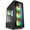 Компьютерный корпус Sharkoon TK4 RGB led, черный