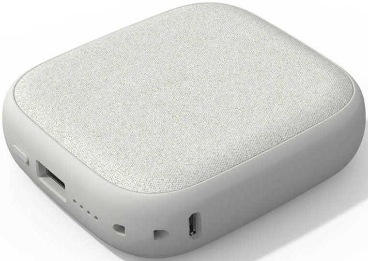 Внешний аккумулятор с поддержкой беспроводной зарядки Xiaomi (Mi) SOLOVE Wireless Charger 10000 mAh W5 светло-серый