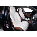 """Накидка """"Автопилот"""" на переднее сиденье, искусственный мех, Тибетская овчина, Белая"""