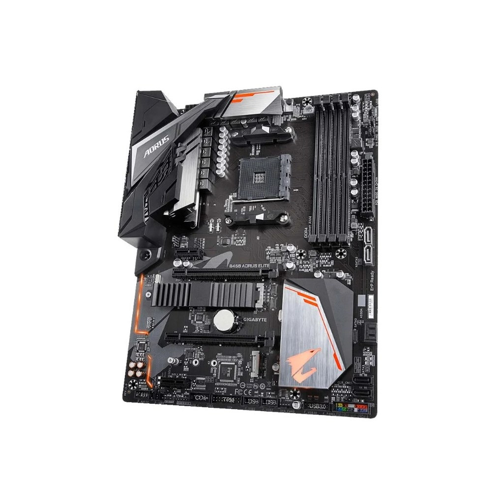 Материнская плата Gigabyte B450 AORUS ELITE Soc-AM4 AMD B450 4xDDR4 ATX AC`97 8ch(7.1) GbLAN RAID+DVI+HDMI