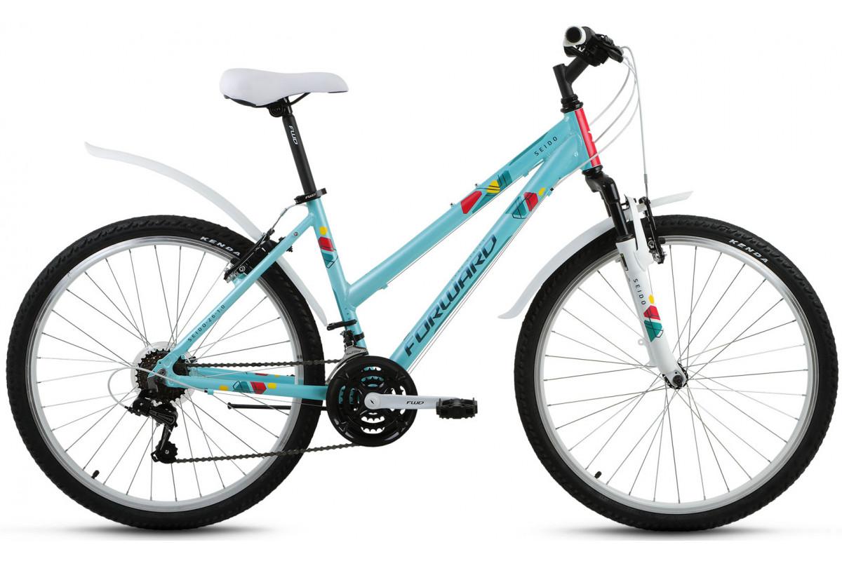 """Велосипед 26"""" Forward Seido 1.0 Зеленый Матовый 18 ск 17-18 г 15'"""