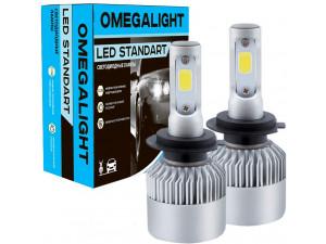 Лампа автомобильная LED светодиодная Omegalight Standart H27 (880) 2400lm (2шт)