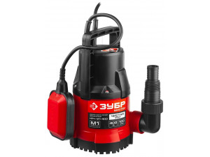 Насос М1 погружной, ЗУБР НПЧ-М1-400, дренажный для чистой воды (диаметр частиц до 5 мм), 400Вт,пропуск. способ. 120л/мин, напор 7м, провод 7м