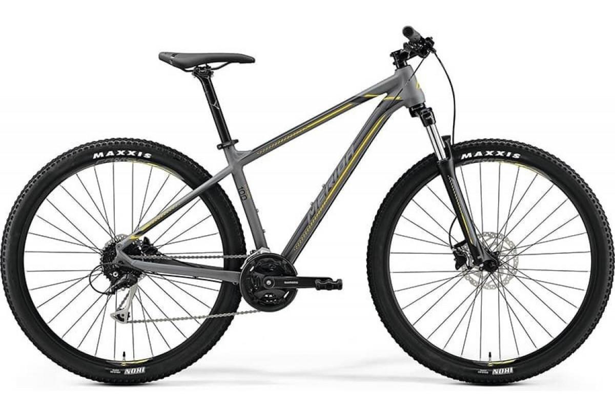 "Велосипед Merida Big Nine 100 MattGrey (Yellow/DarkGrey) 2019 S(14.5"")(79689)"