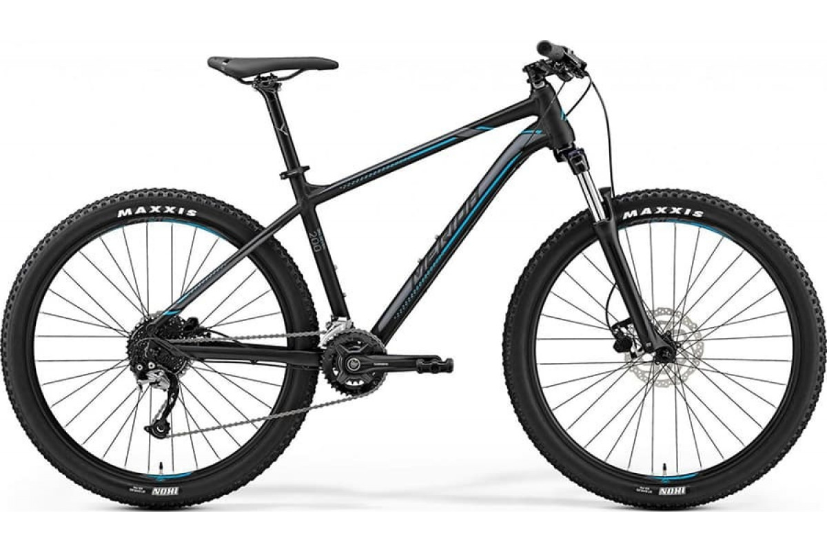 "Велосипед Merida Big Seven 200 Matt Black (Silver/Blue) 2019 M(17"")(90648)"