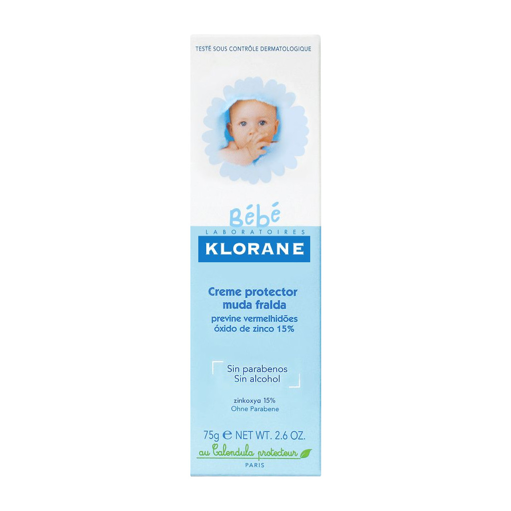 Детский восстанавливающий крем Klorane Bebe для смены подгузников 3 в 1
