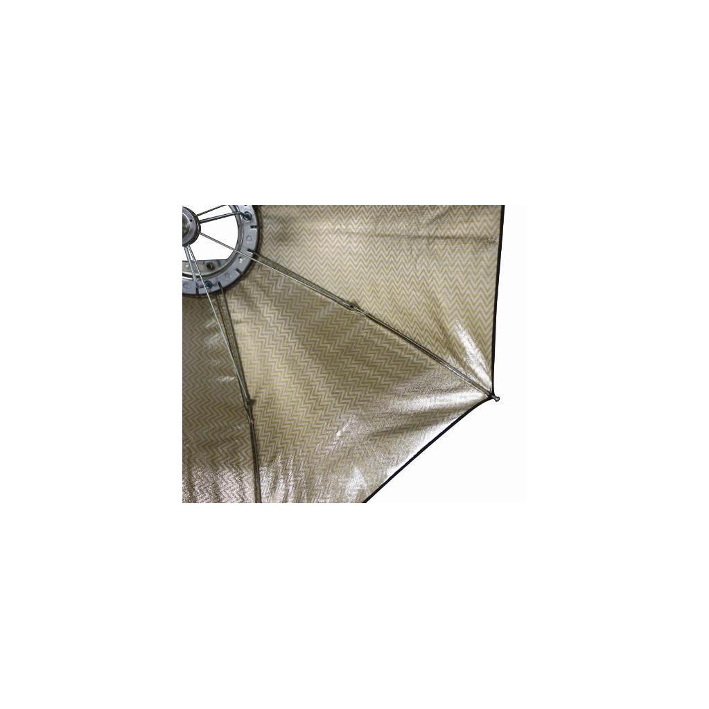 Октобокс золотистый Aurora Lite Bank Firefly2 Silver-Gold для накамерной вспышки 65 см