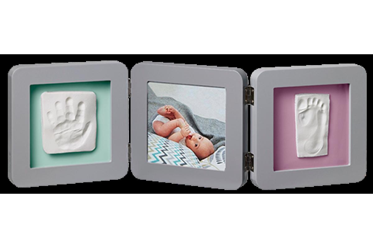 Baby Art Рамочка тройная Модерн с 4 цветными подложками; серый