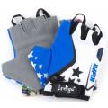 Перчатки вело детские Звездочки Indigo 2XS Бело-Голубой