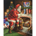 Schipper Санта Клаус у камина - раскраска по номерам, 40х50 см