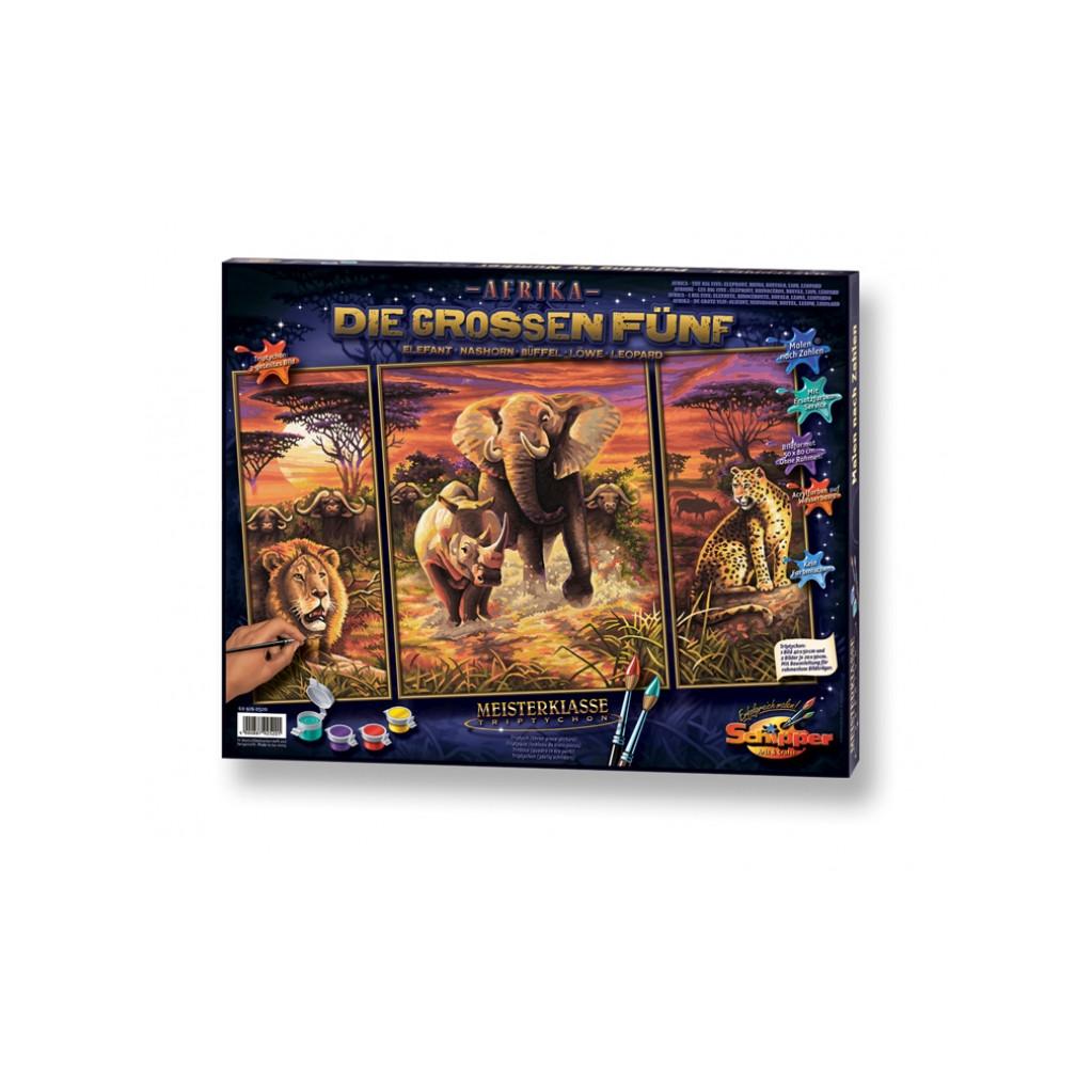 Schipper Триптих Африка - раскраска по номерам, 50х80 см