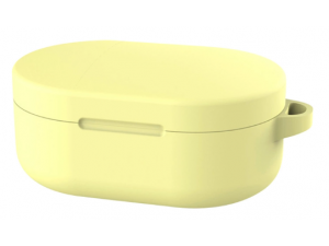 Чехол силиконовый для наушников Xiaomi Redmi AirDots, желтый