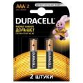 Батарейка щелочная Duracell LR03 (AAA) 1.5В блистер 2шт