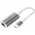 Адаптер USB Type-C - Gigabit Ethernet, графит, Deppa