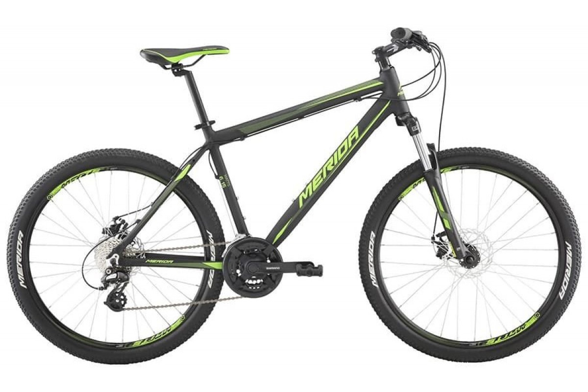 "Велосипед Merida Matts 6.15-MD MattBlack/LiteGreen 2019 S(16"")(33621)"