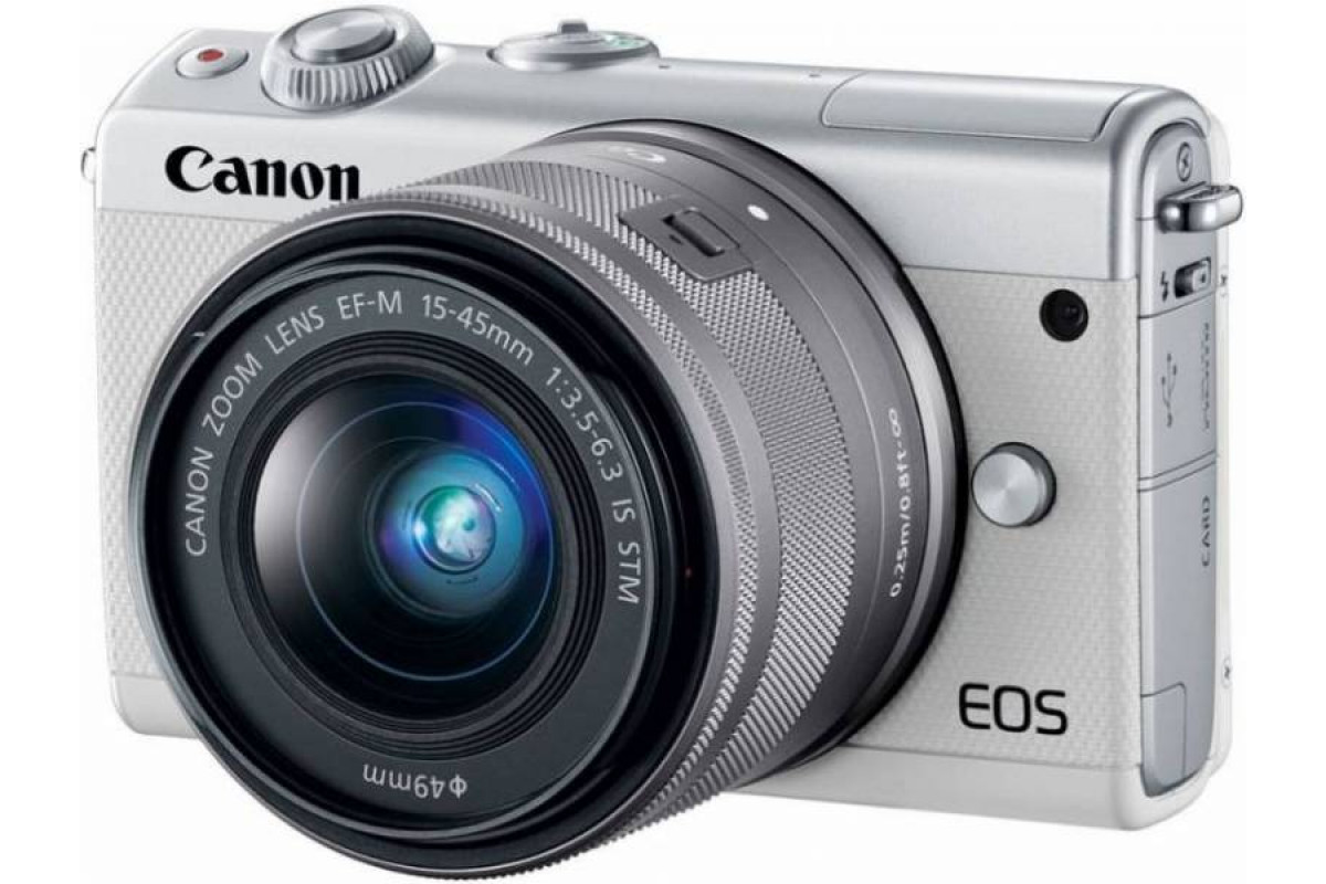 Canon EOS M100 kit EF-M 15-45mm f/3.5-6.3 IS STM белый