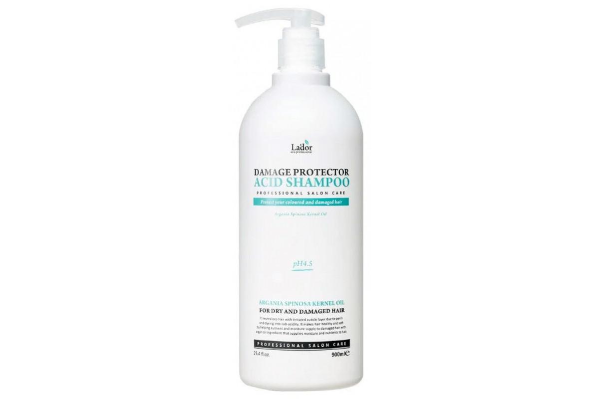 La'dor Бесщелочной шампунь с коллагеном и аргановым маслом Damaged Protector Acid Shampoo 900мл