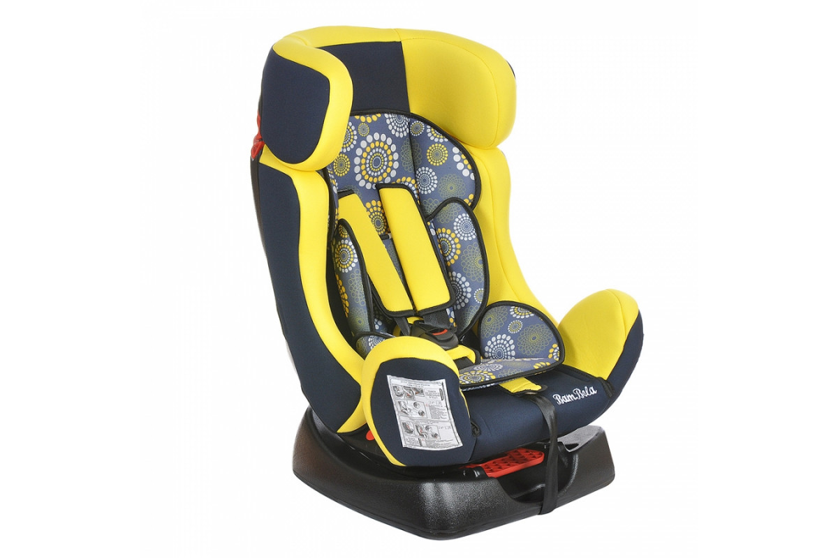 BamBola Piloto - детское автокресло 0-25 кг одуванчик сине-желтое