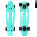 "Y-Scoo Skateboard Fishbone с ручкой 22"" - скейтборд с ручкой и сумкой Aqua-black"