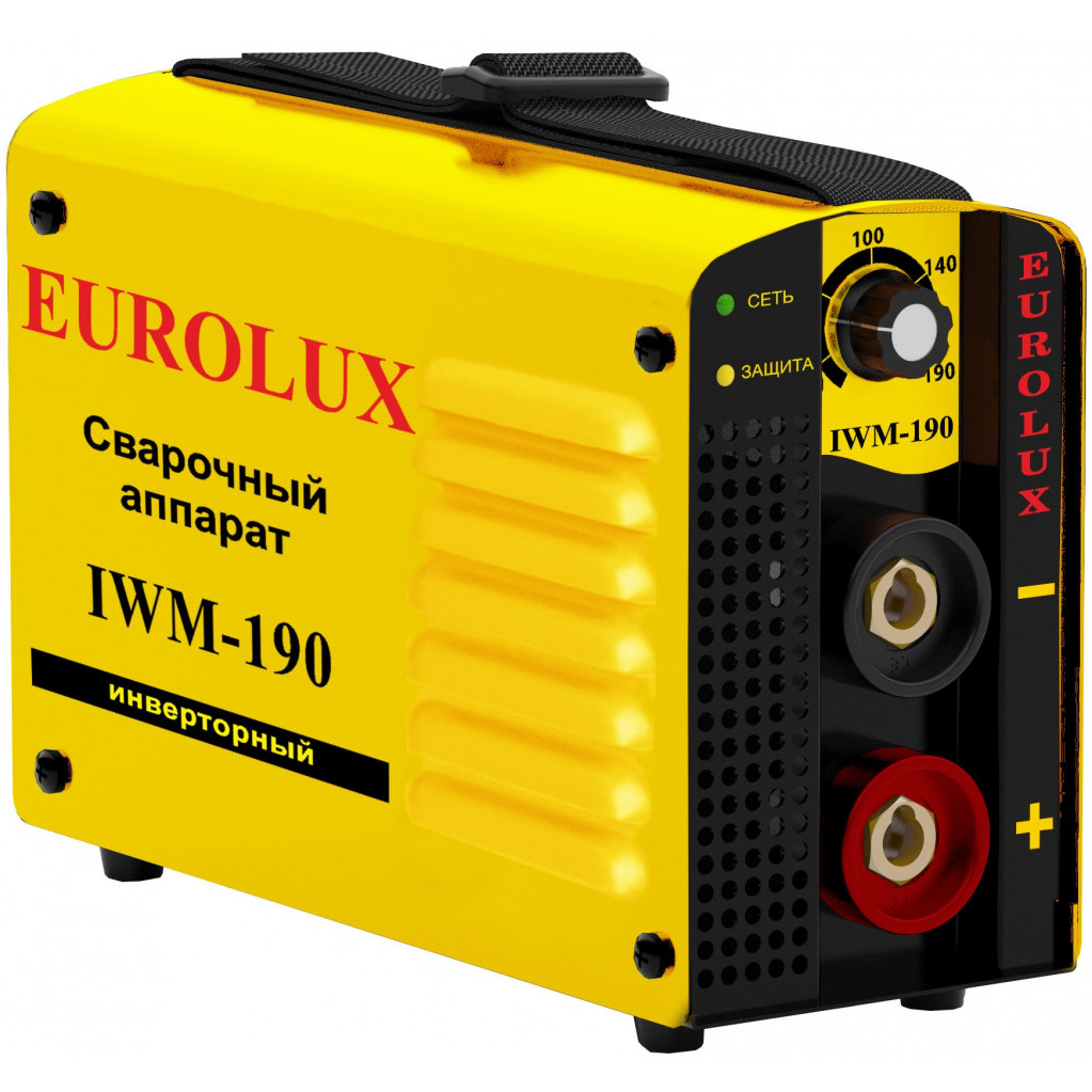 Инвертор сварочный Eurolux IWM190  220В 10-190А ПВ70% 4.75кг