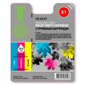 Картридж Cactus CS-CL51 (голубой, пупрупный, желтый) для Canon Pixma  MP150/ MP160/ MP170/ MP180/ MP450 /MP460; iP2200/ iP6210/ i