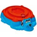 Marian Plast Песочница-бассейн - Собачка с крышкой (голубой, красный) 432